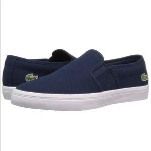 Lacoste Navy Gazon Slip On Canvas Sneaker